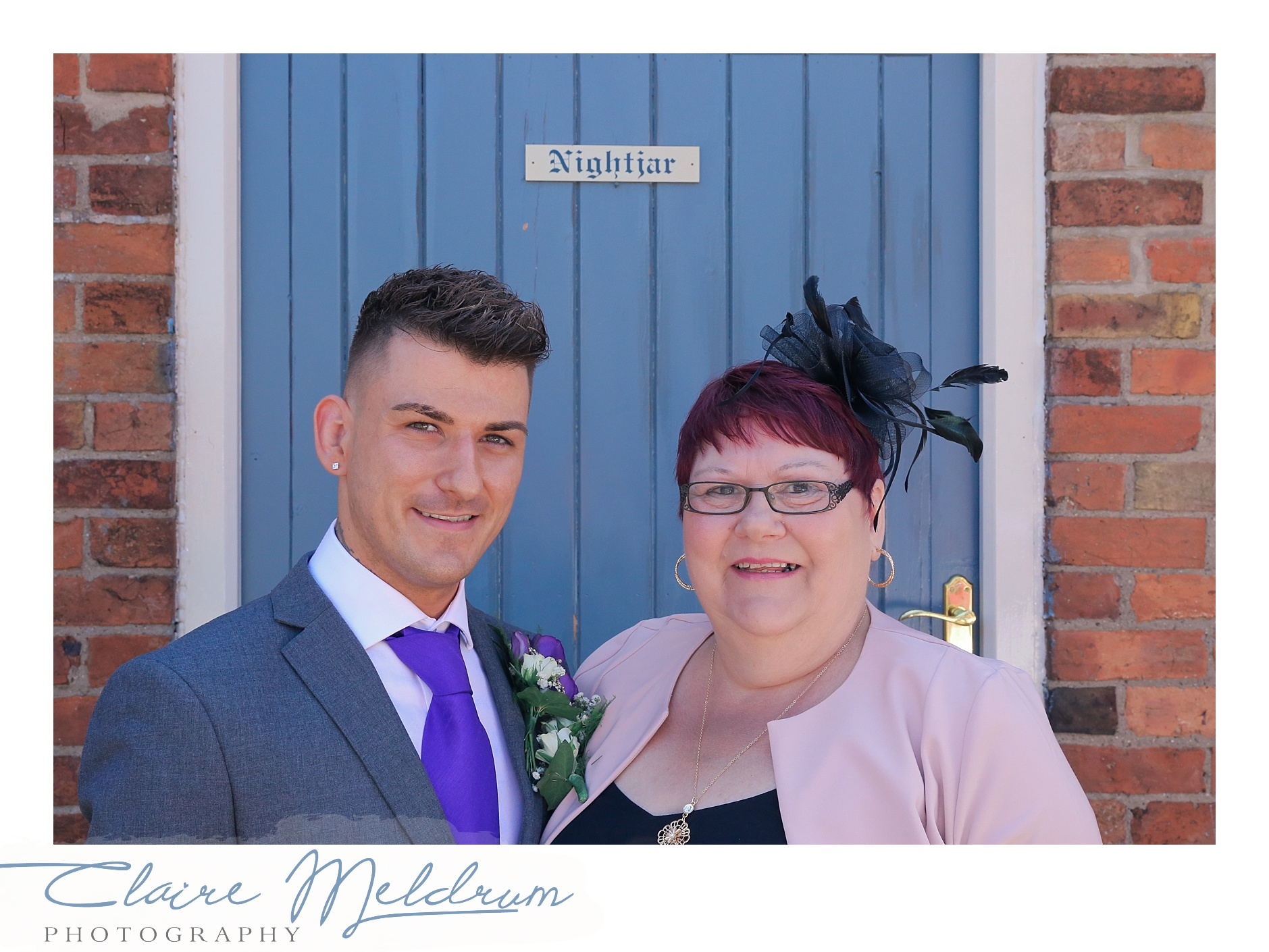 Groom and mum Claire Meldrum Photography