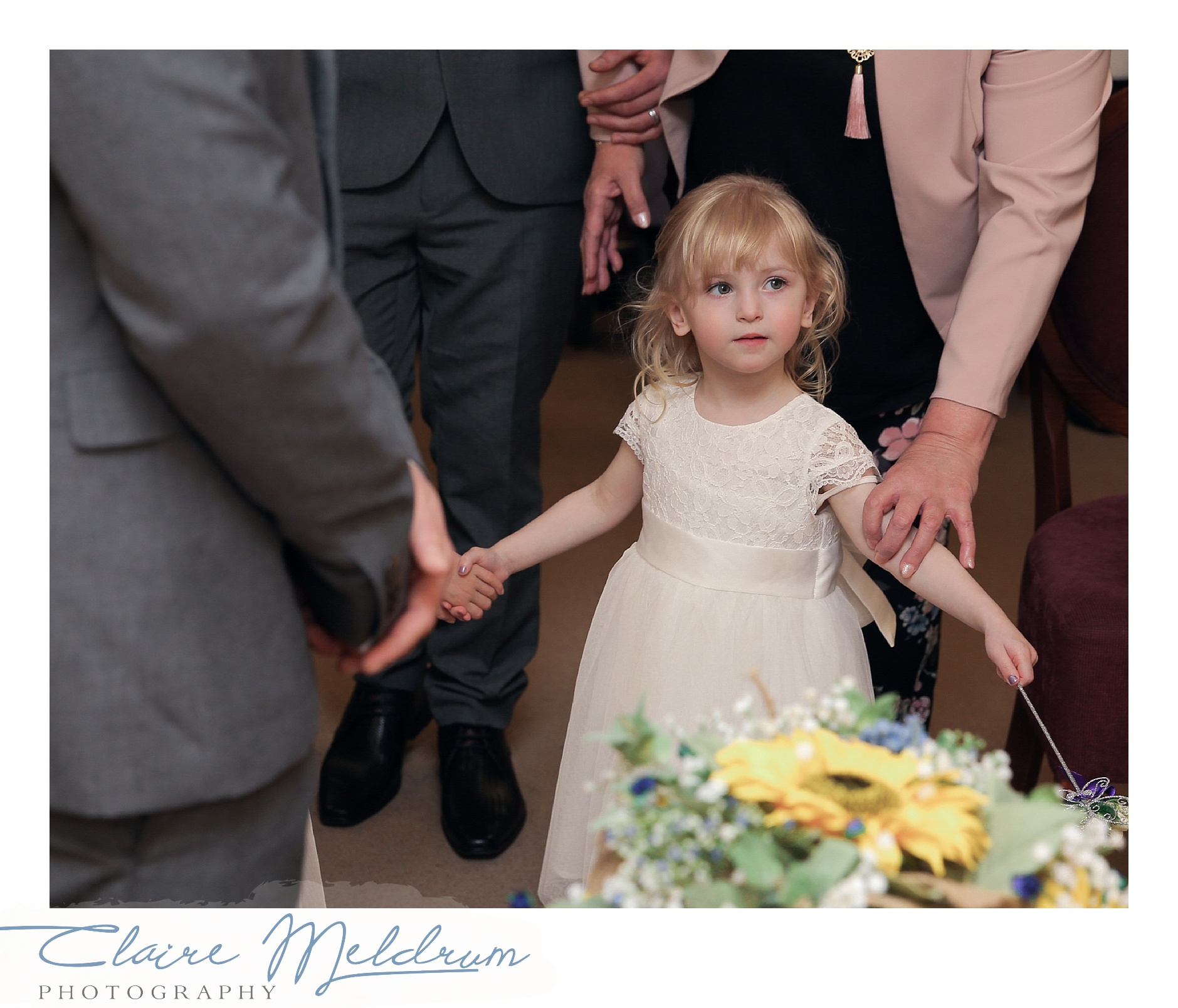 Flower girl Claire Meldrum Photography