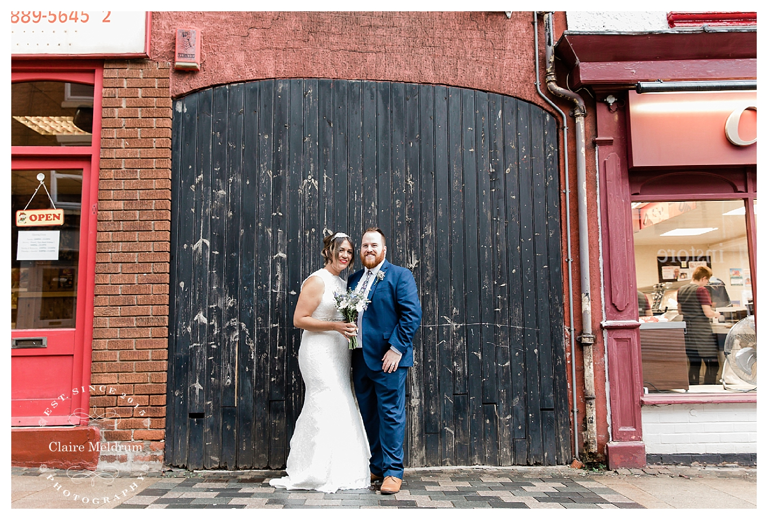 Uttoxeter High Street wedding photo Claire Meldrum Photography