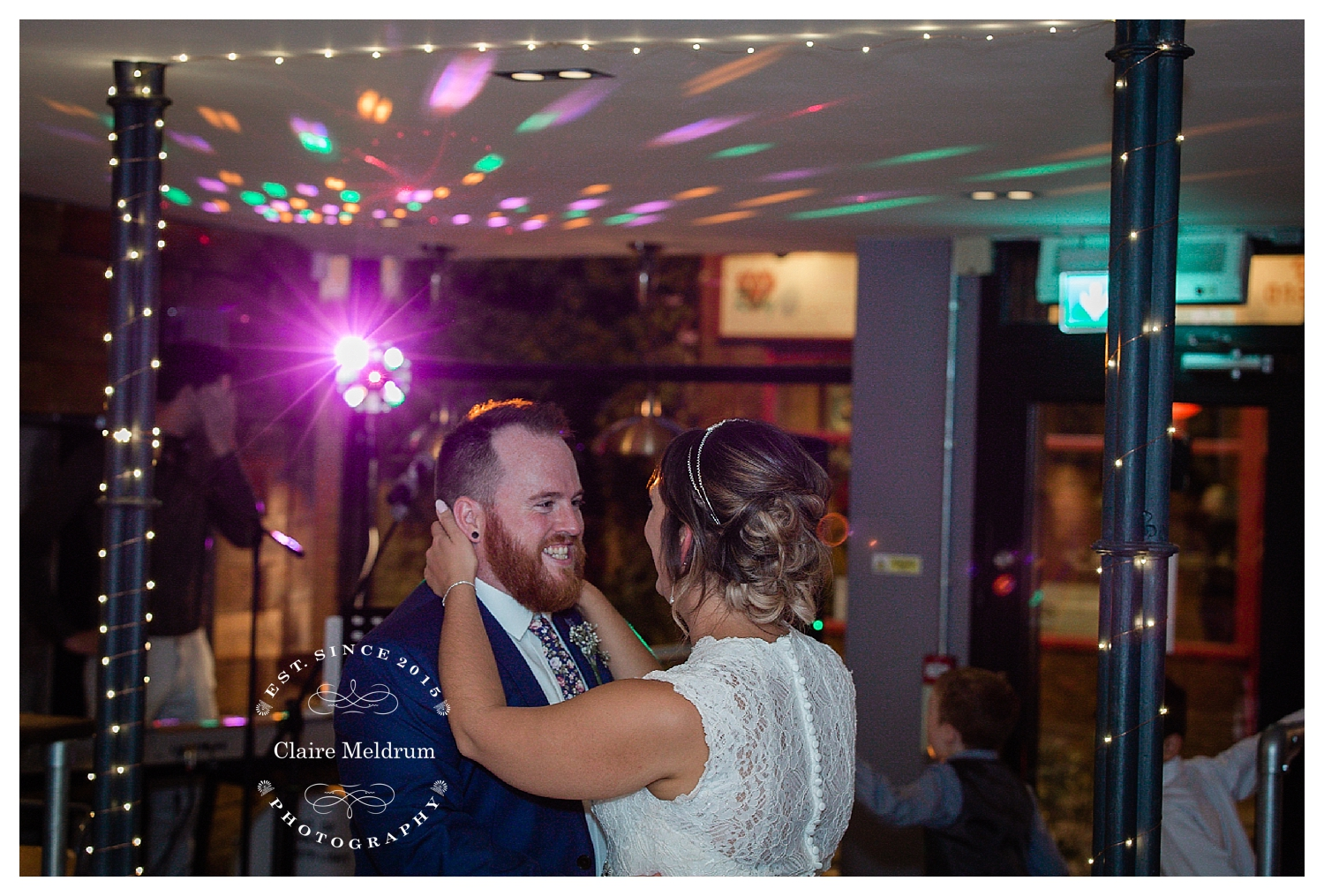 Bride and groom dancing at Bear Coffee, Claire Meldrum Photography
