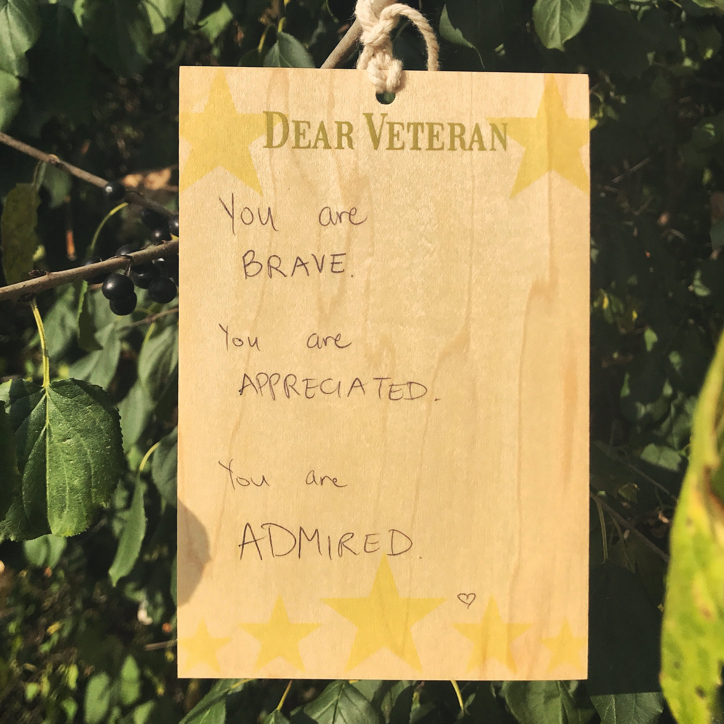 You are BRAVE. You are APPRECIATED. You are ADMIRED.