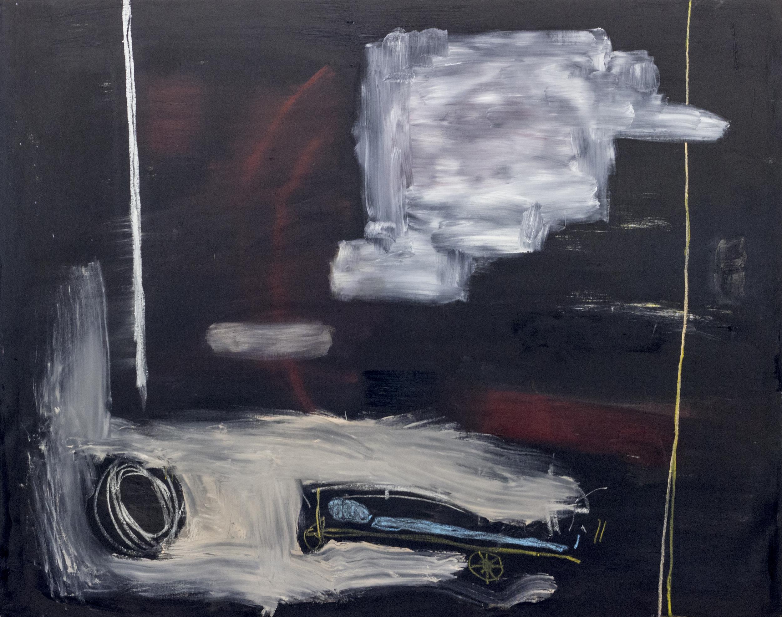 Phantasmagoria , 2015  54 x 68 Inches  Oil, Chalk Pastel, Graphite, and Oil Stick on Canvas