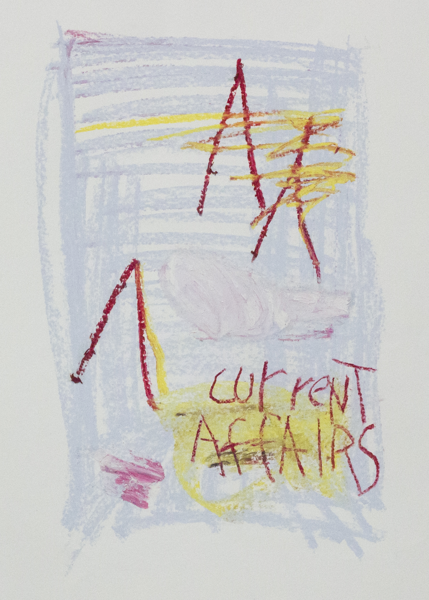 I Cannot Tell What is Mud and What is Shit  , 2015    24 x 18 inches   Oil Pastel, Crayon and Oil Stick on Paper