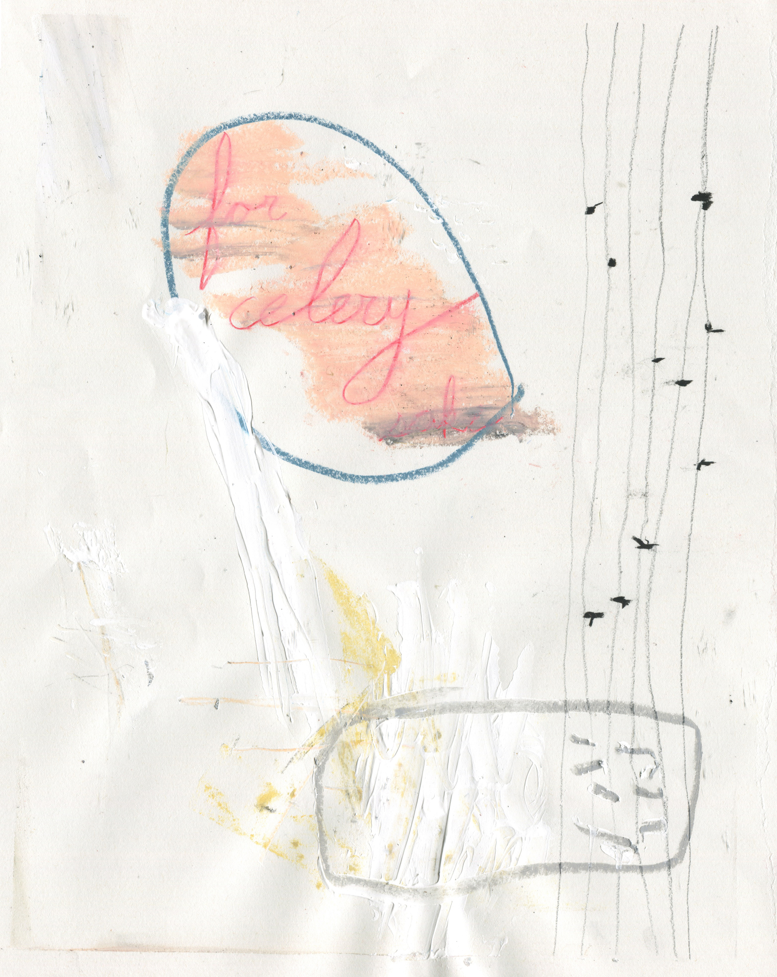 New Song, Borrowed Chords , 2016  14 x 11 inches  Chalk Pastel, Graphite, Charcoal, Crayon, Colored Pencil, and Acrylic on Paper