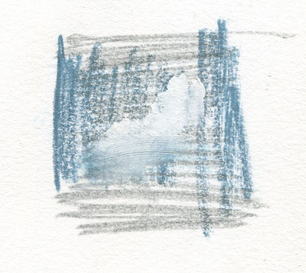 Still Memory, 2016  3.75 x 3.75 inches  Graphite, Crayon and Oil on Paper