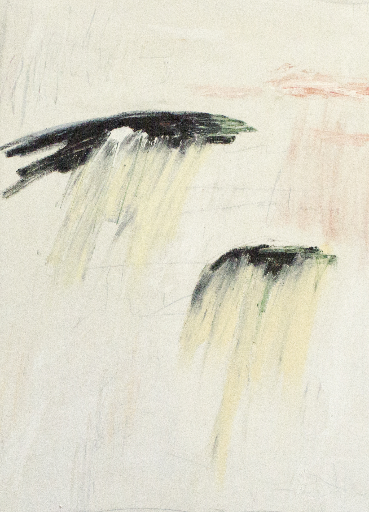 Dolorem et Desperationem,  2018  36 x 26 Inches  Oil, Acrylic, Oil Stick, Colored Pencil, Graphite and Crayon on Canvas