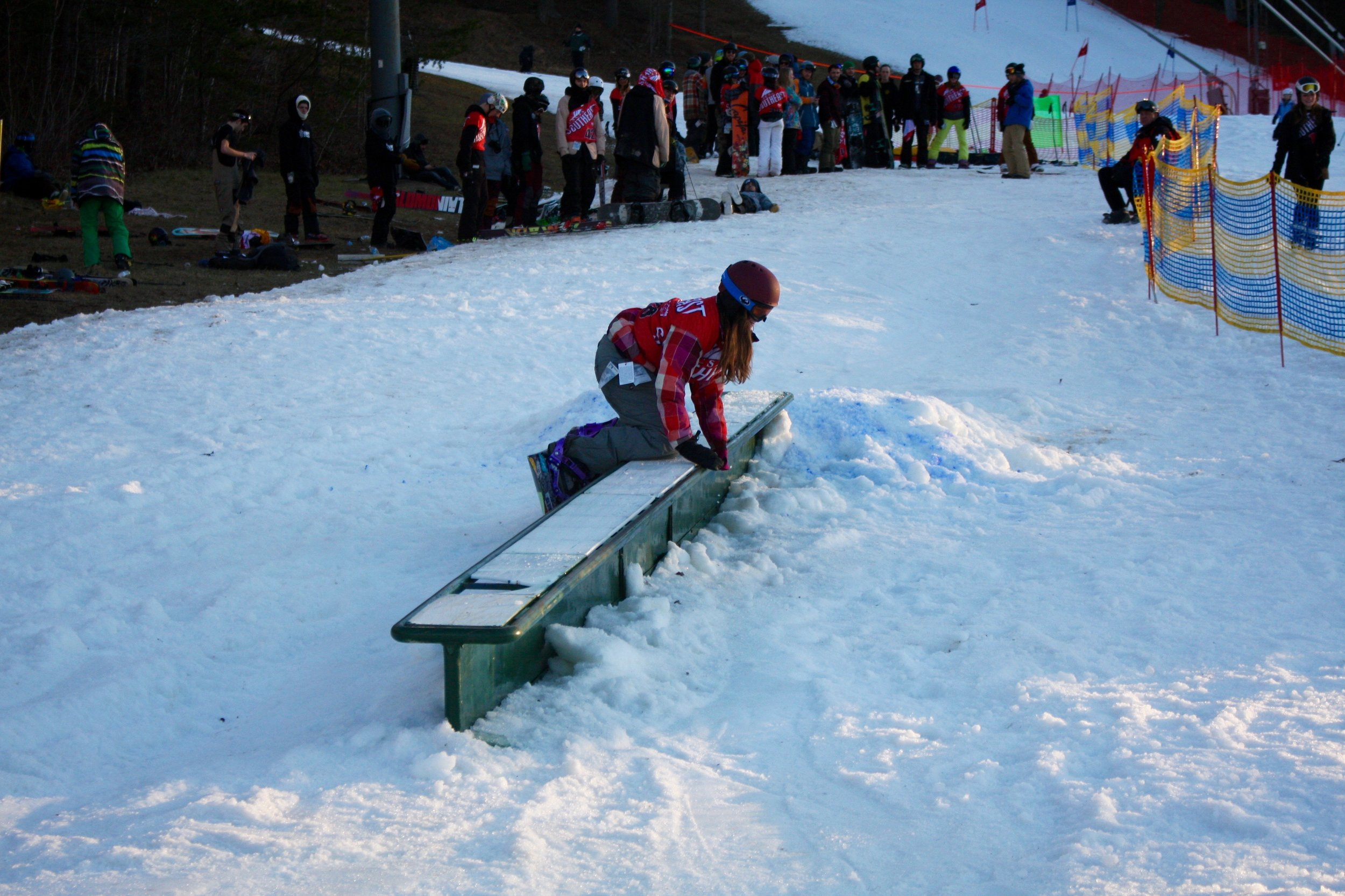"""Despite what Chandler said to the public, she could be seen on the day of the rail jam getting pretty friendly with the butter box, as photographic evidence shows. One source even stated, under the condition of anonymity, that they overheard her whispering, """" my precious ,"""" as she fifty-fiftied the feature."""