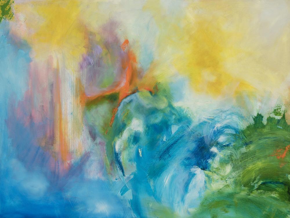 "Oil on Canvas, 36"" x 48"" x 1.5"""