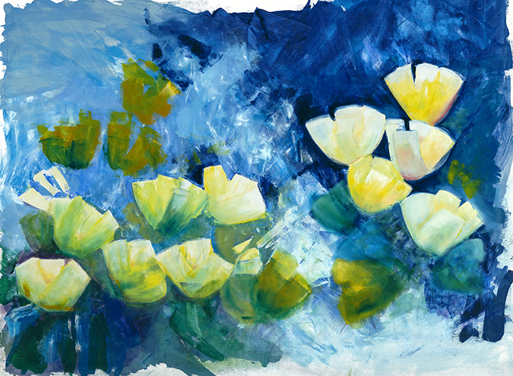 Tulips.  Blue can be such a happy color -- at once bold and versatile, as well as soothing and nurturing.