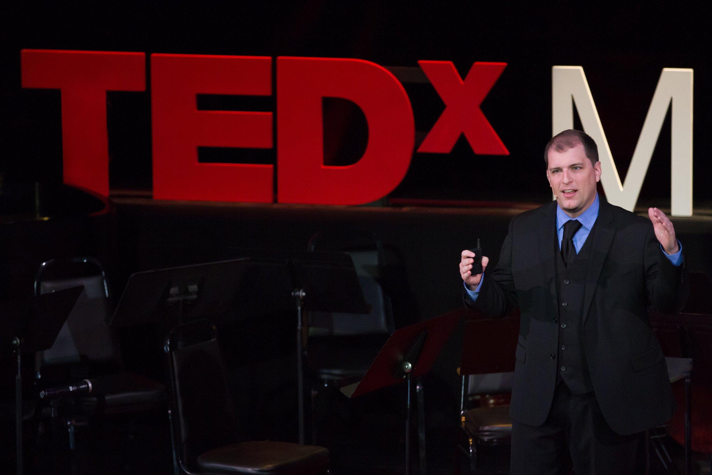 Jordan speaks at TEDxMidAtlantic 2017