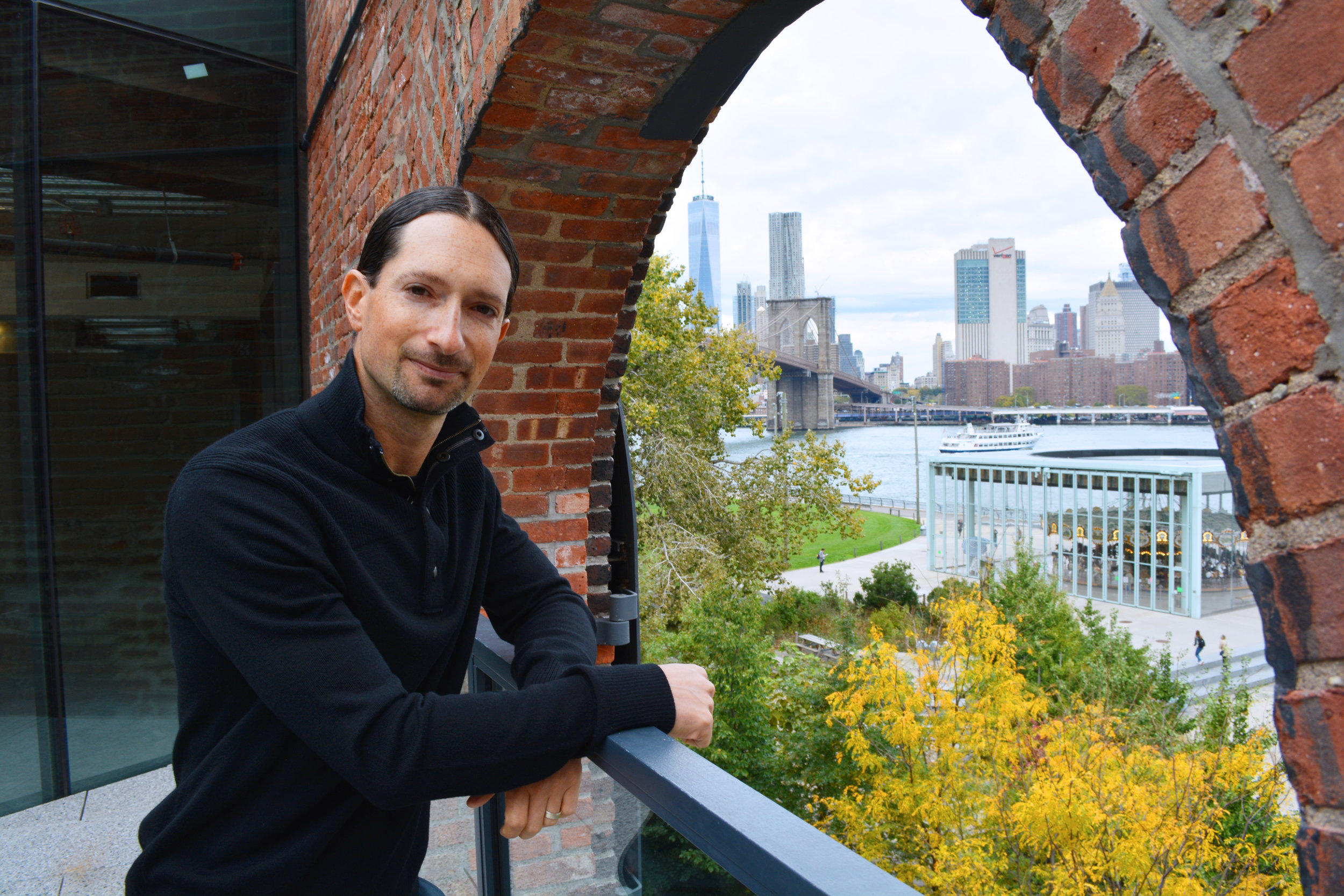 Ben Goldberg, composer. Ben's piece, Catalyst, received its world premiere at TEDxMidAtlantic 2017.