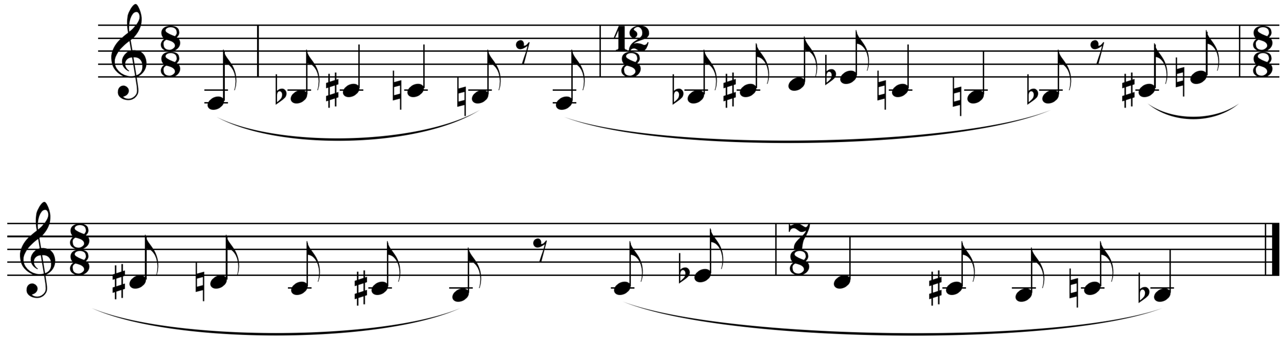 Figure 1. Fugue subject: mm. 1-4