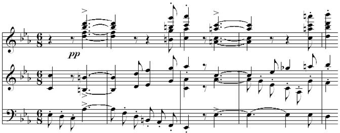 Fig. 6. Supermetric Construct (Op. 68, mvt. I, m. 161)