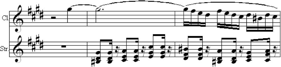 Fig. 7c. Possible Aural Perception of Passage (Op. 68, mvt. 3, m. 39)