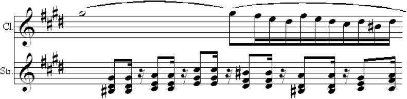 Fig. 7d. Essence of the Passage (Op. 68, mvt. 3, m. 39)