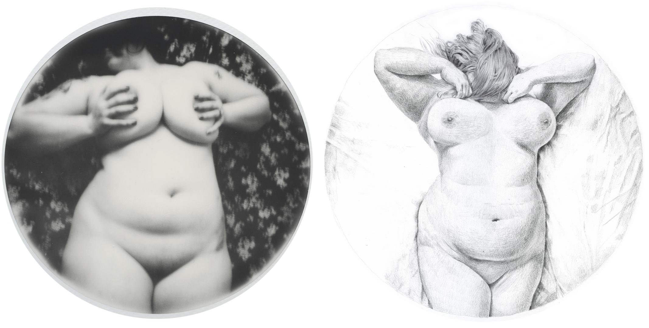 polaroid et dessins de  Madeleine Froment