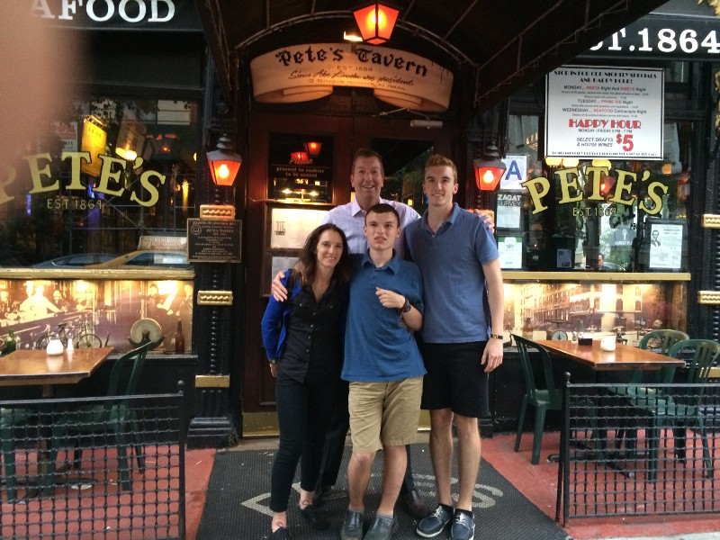 Pete's Tavern, NYC—June 2015—Katie, Mike, Dustin, and Dylan