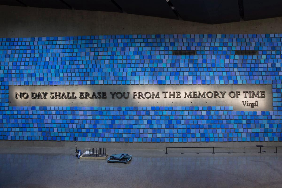 """""""Trying To Remember the Color of the Sky on That September Morning"""" by Artist Spencer Finch @ 9/11 Memorial"""