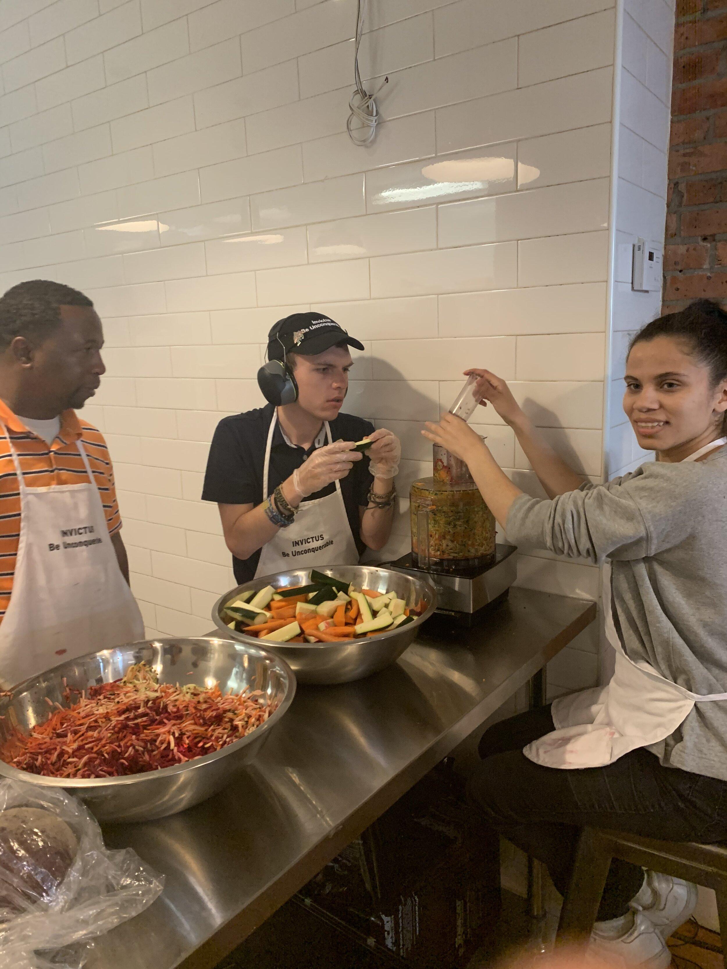 Jermaine, Dustin and Noa at Invictus Bakery