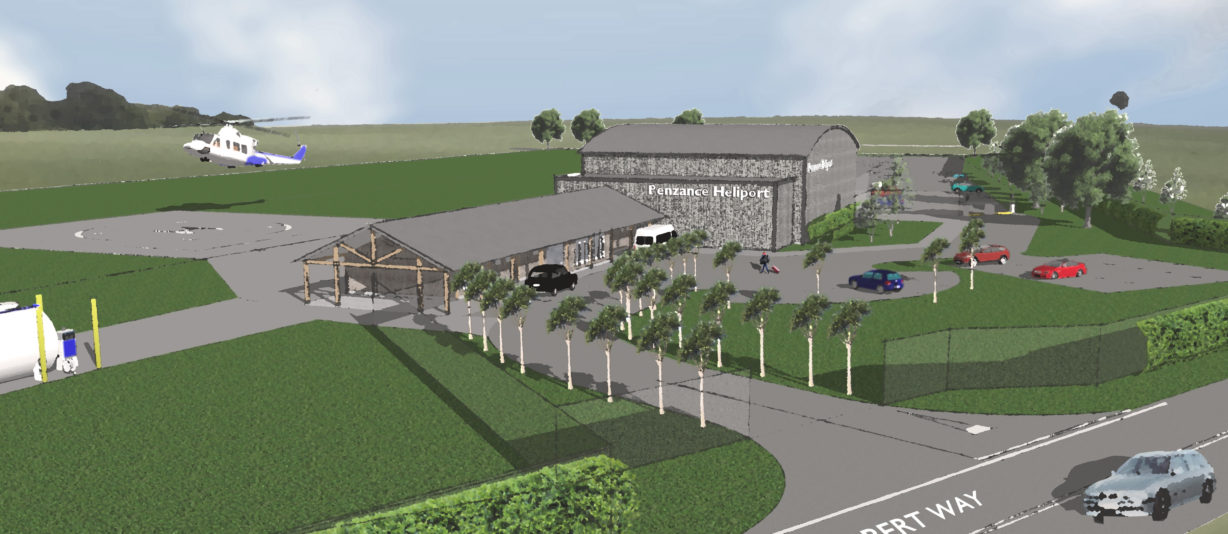 Visual Impression Of The Heliport In Penzance.Credit: Penzance Heliport Ltd.