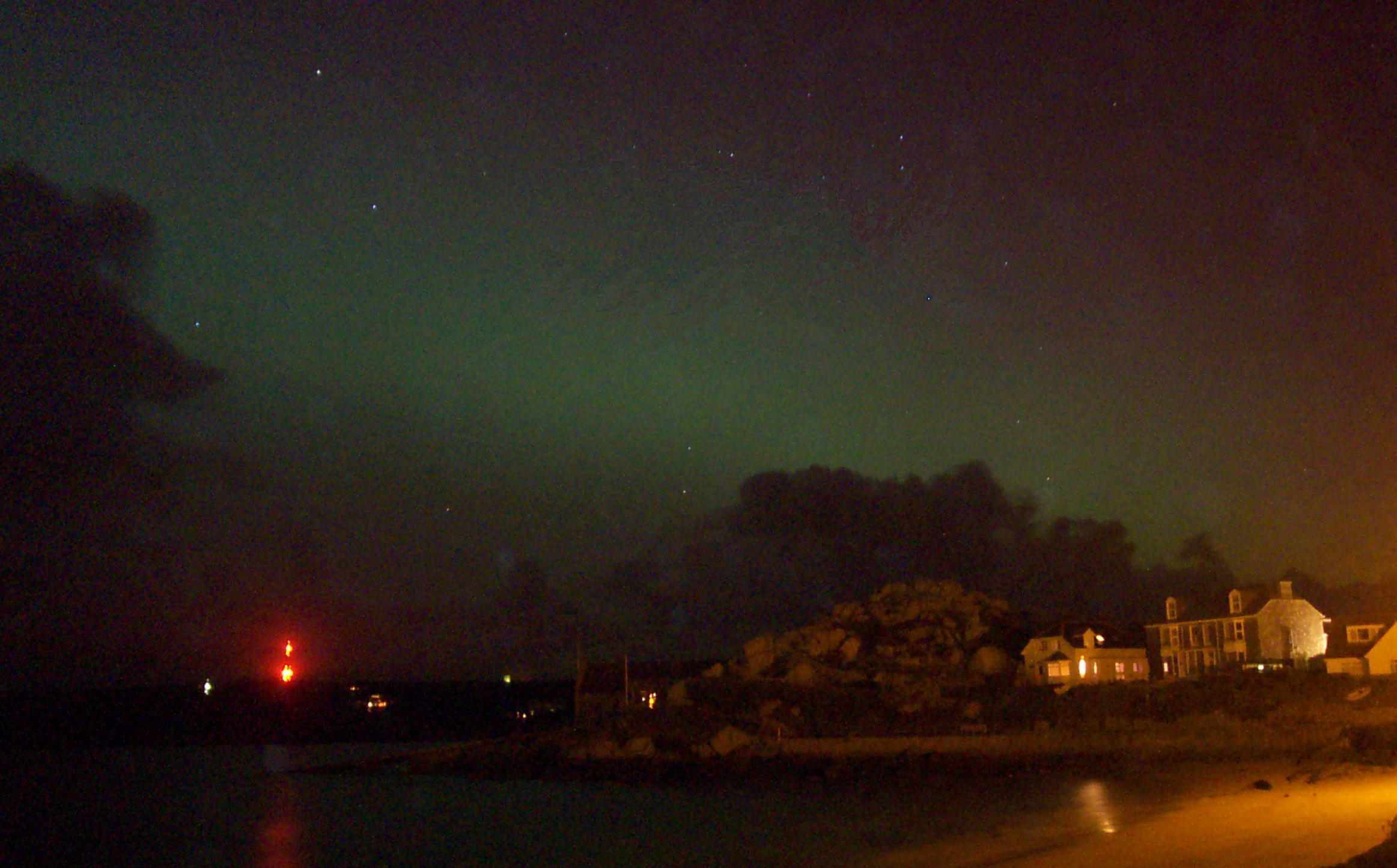 Northern Lights on Scilly - Image courtesy of Jane Hurd