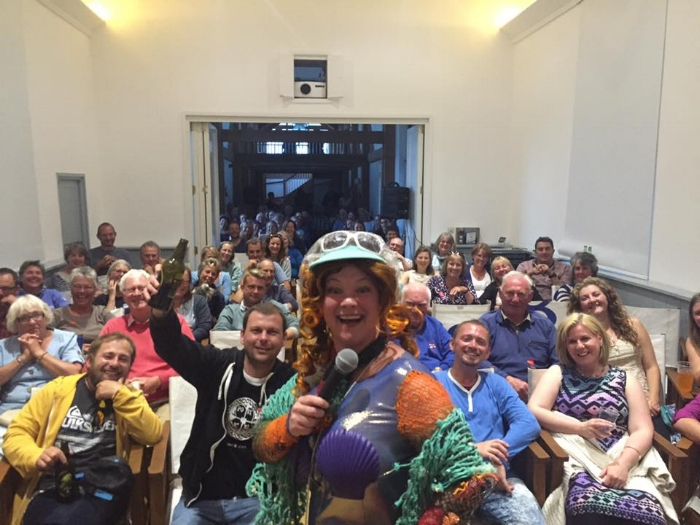 Scilly Laughs gig on St Agnes in 2016. Image courtesy of Julie Jepson and Scilly Laughs.