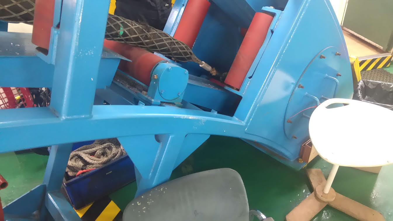 The cable as it was winched onto the repair vessel last week.