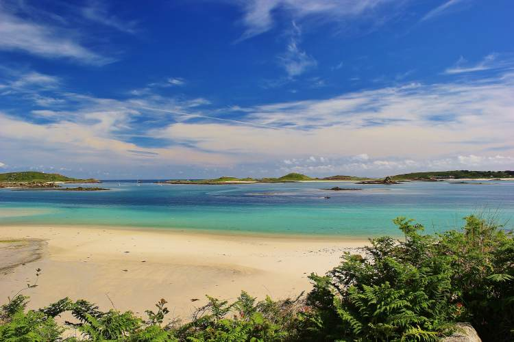 """The 2016 Isles of Scilly Photo Competition winner - """"Sky, Sea, Sand"""" by Carl Farran."""