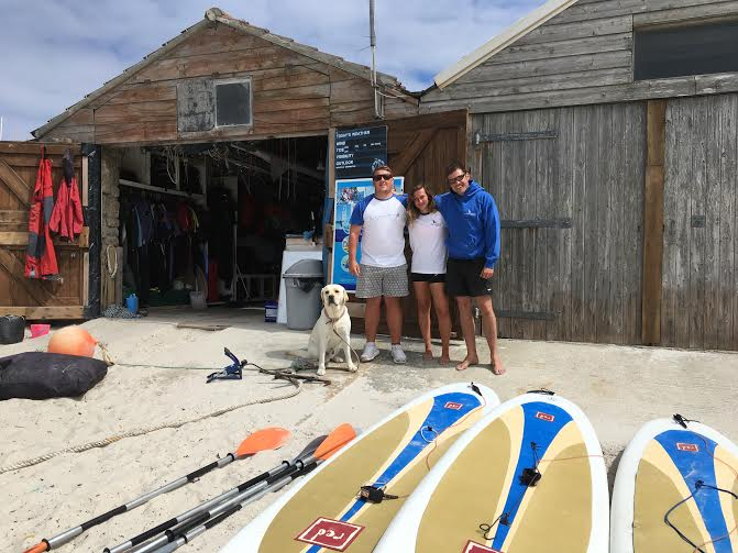 From left to right - Ben, Jess and Liam from The Sailing Centre.