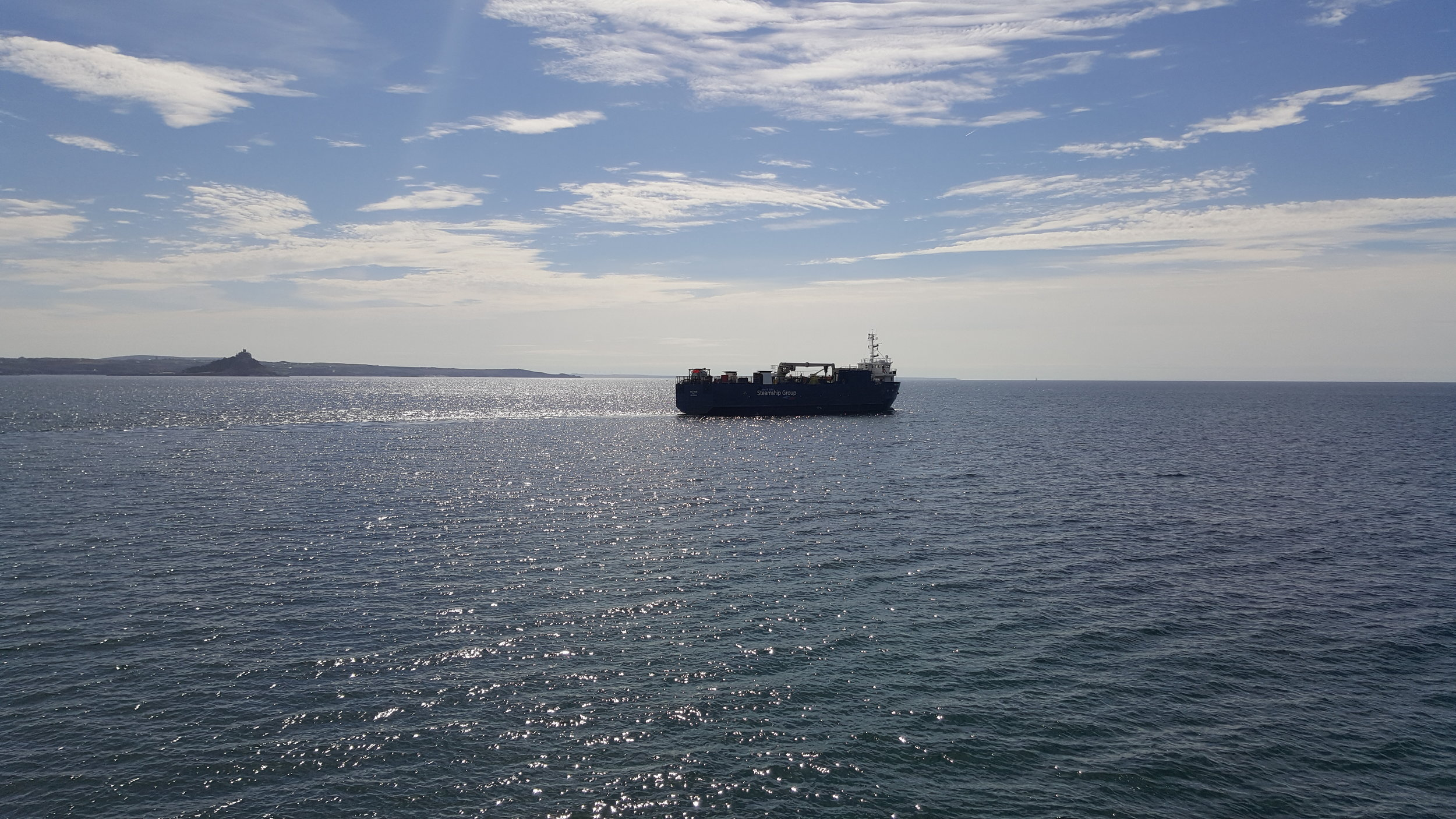 The Mali Rose on her way to Scilly this morning.