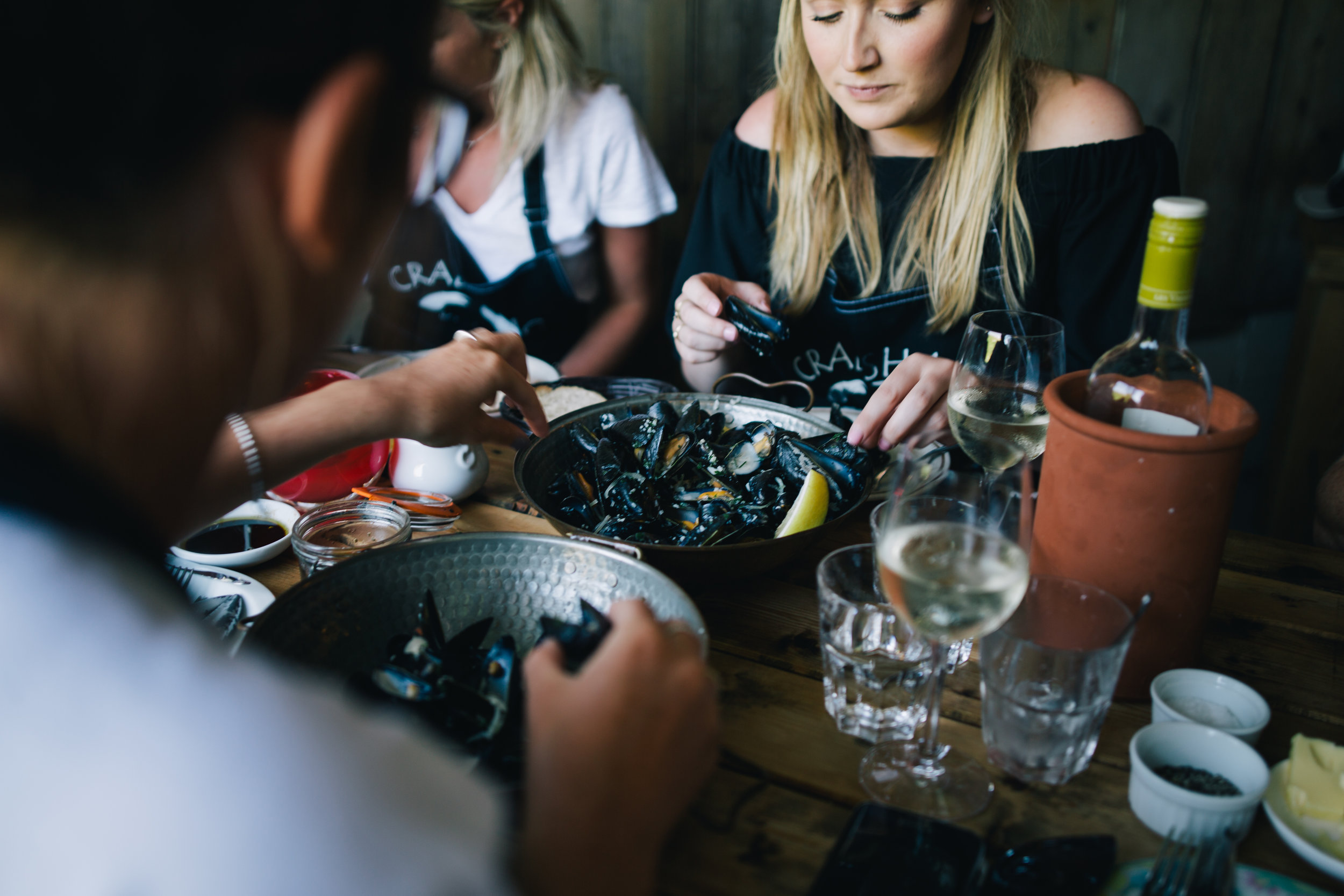 Enjoying an incredible seafood buffet. Image courtesy of Visit Isles of Scilly.