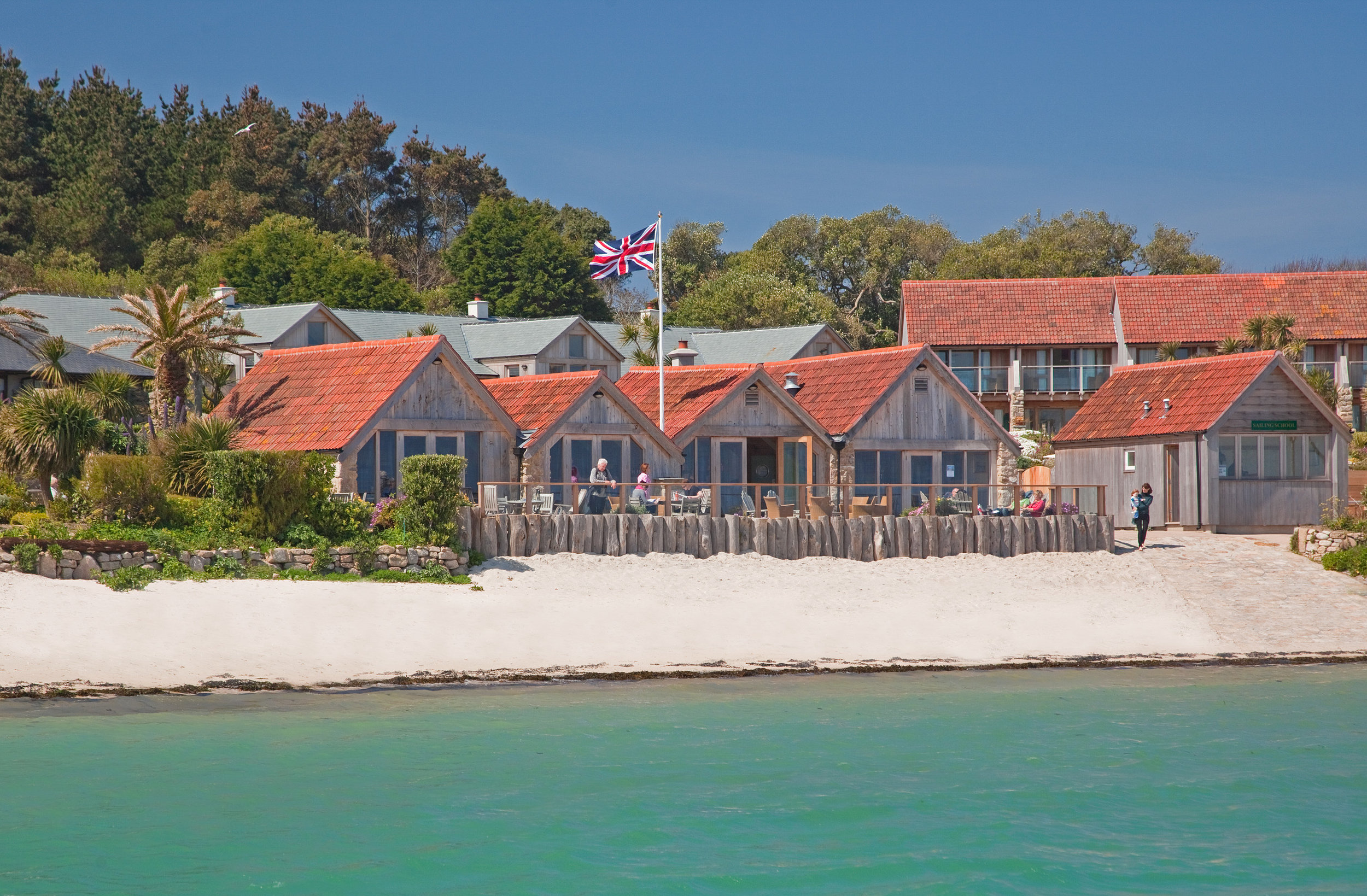 The Ruin Beach Café on Tresco features in the new Michelin Guide Great Britain and Ireland. Image courtesy of Tresco Island.