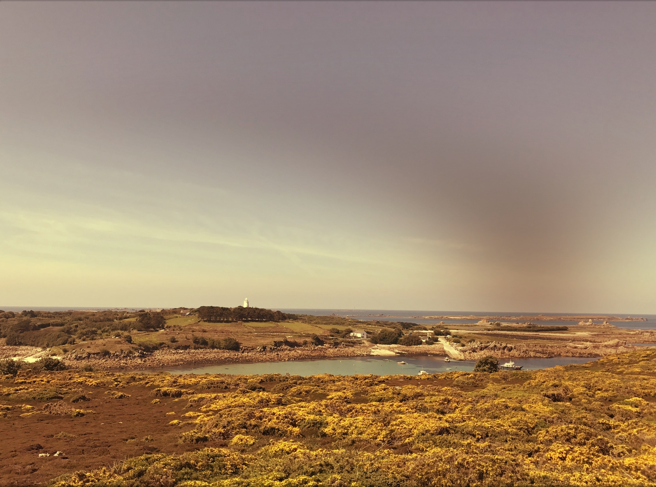 Looking out to St Agnes from Gugh from earlier on in the year.