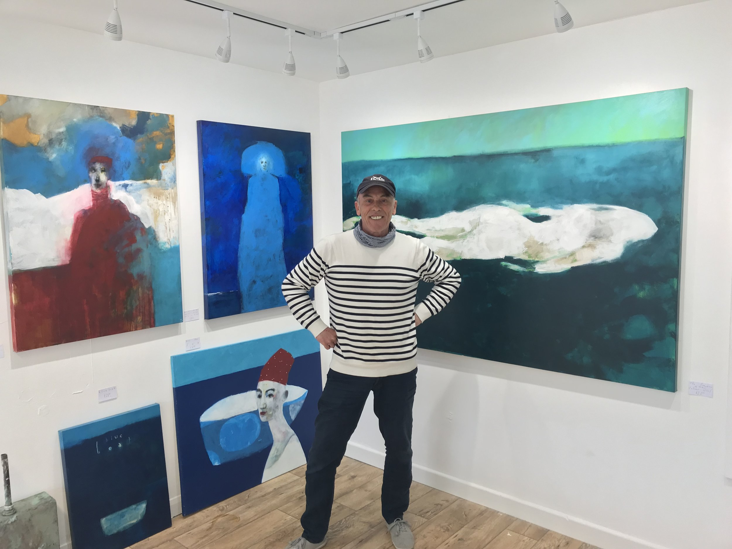 Ian with some of his work at The White Gallery on St Mary's.