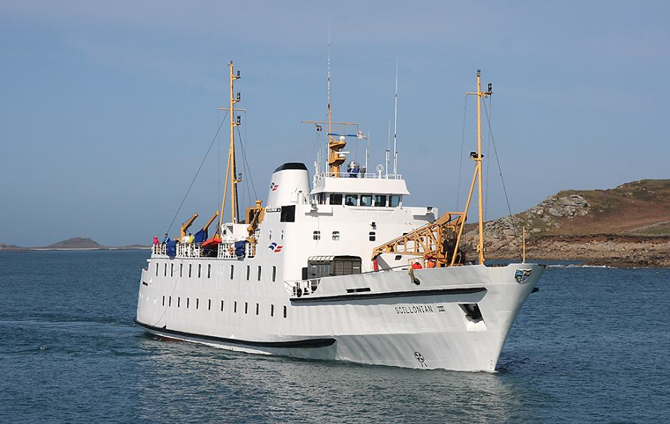 The Scillonian III on her way into St Mary's Harbour. Image courtesy of Isles of Scilly Travel.