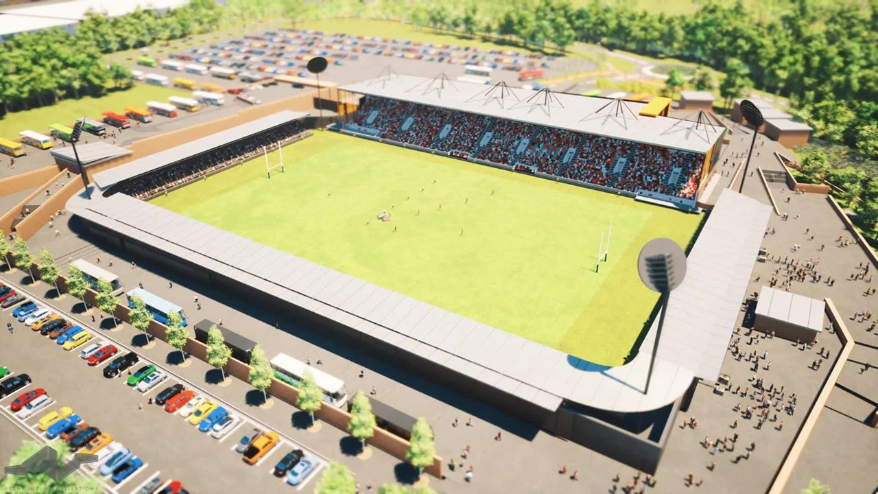 Artistic impression of the proposed Stadium For Cornwall.