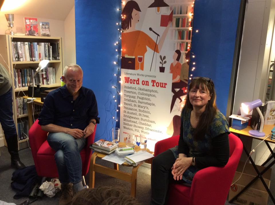 Tim Dee and Miriam Darlington at the Word on Tour live literature event St Mary's. Image courtesy of St Mary's Library.