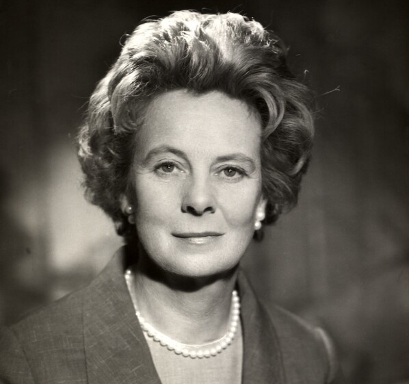 Lady Wilson died at St Thomas' Hospital in London yesterday after a stroke.