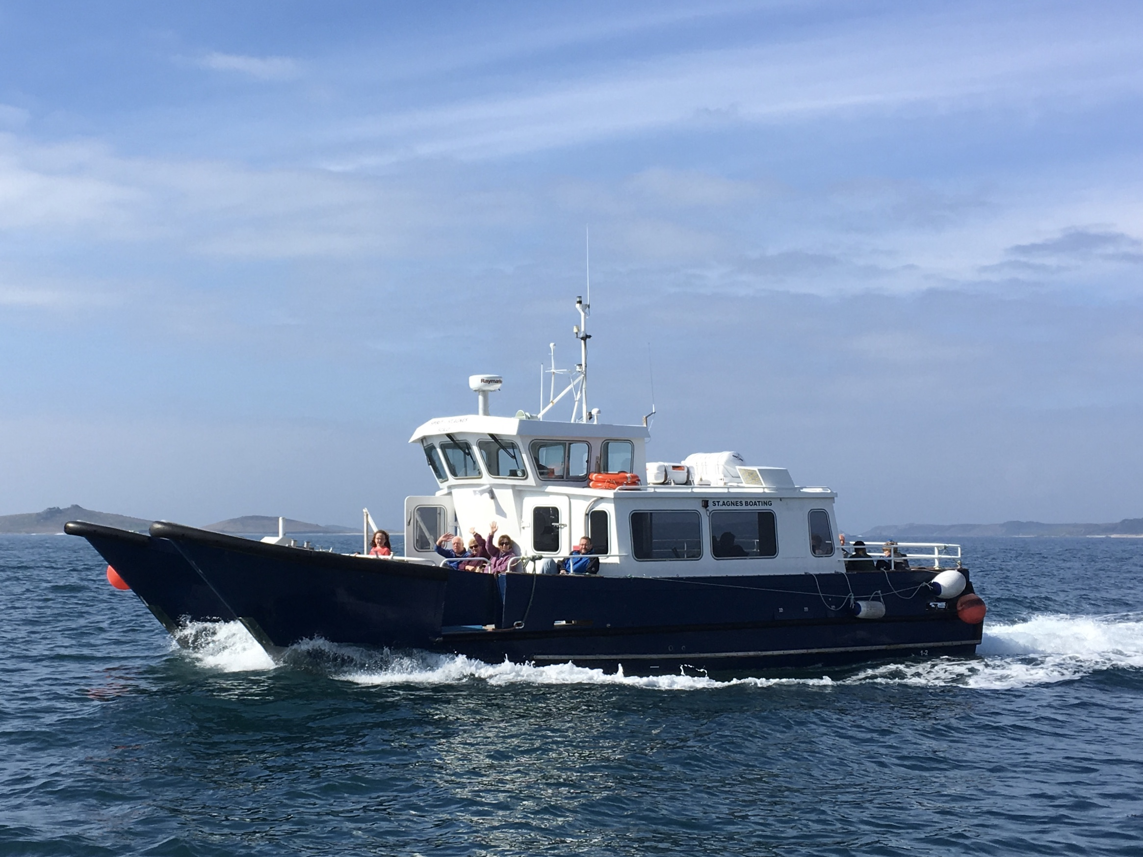 The Spirit of St Agnes on a gorgeous summers day. Image courtesy of John Peacock and St. Agnes Boating.