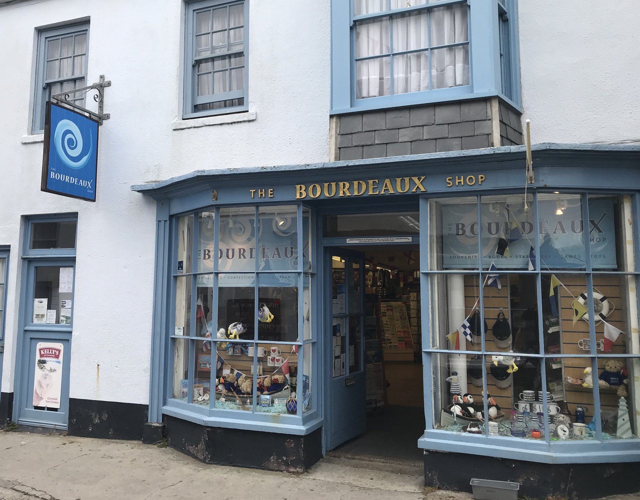 The Bourdeaux Shop in Hugh Town on St Mary's.
