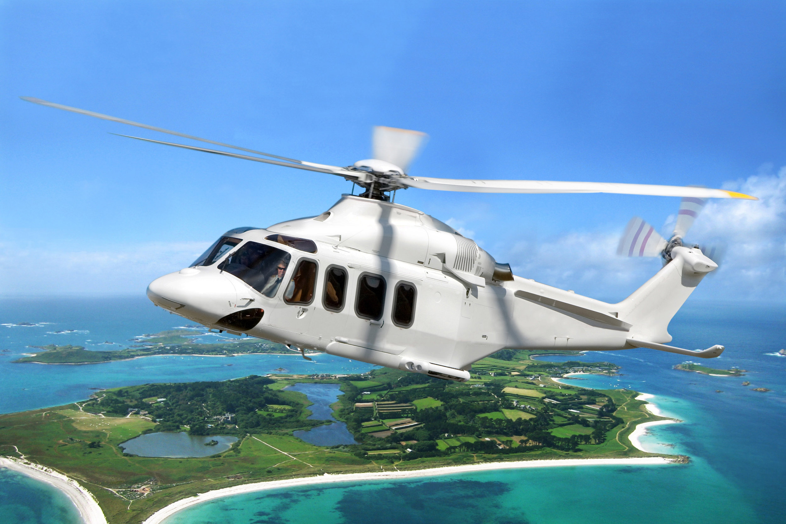 AgustaWestland (AW) 139 helicopters will operate from the new heliport at Penzance to the St Mary's and Tresco.