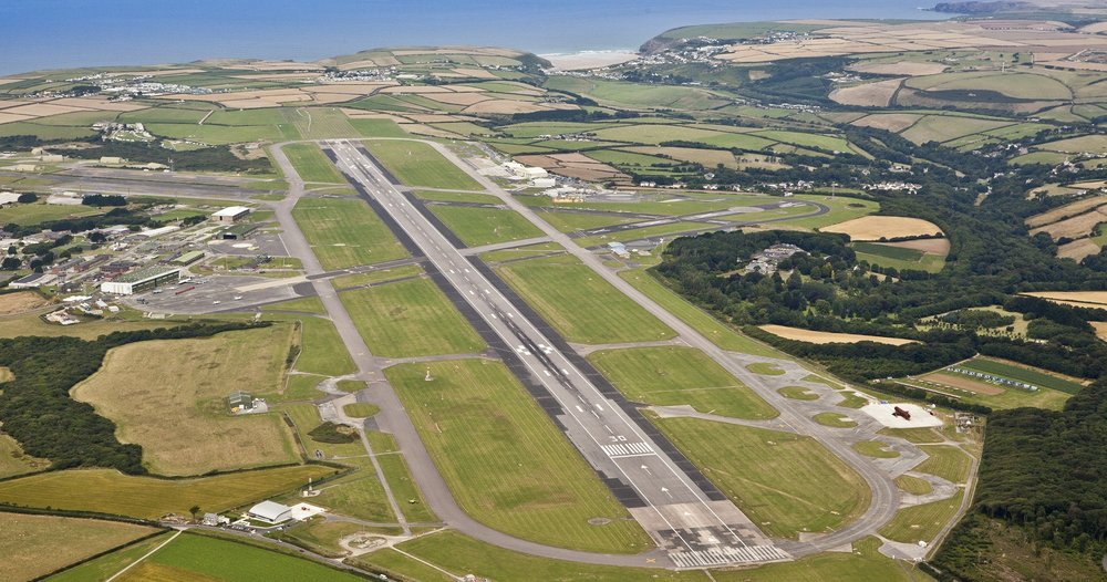 Direct flights between Cornwall Airport Newquay and London Heathrow was revealed by Transport Secretary Chris Grayling in the House of Commons. Image courtesy of Cornwall Airport Newquay.