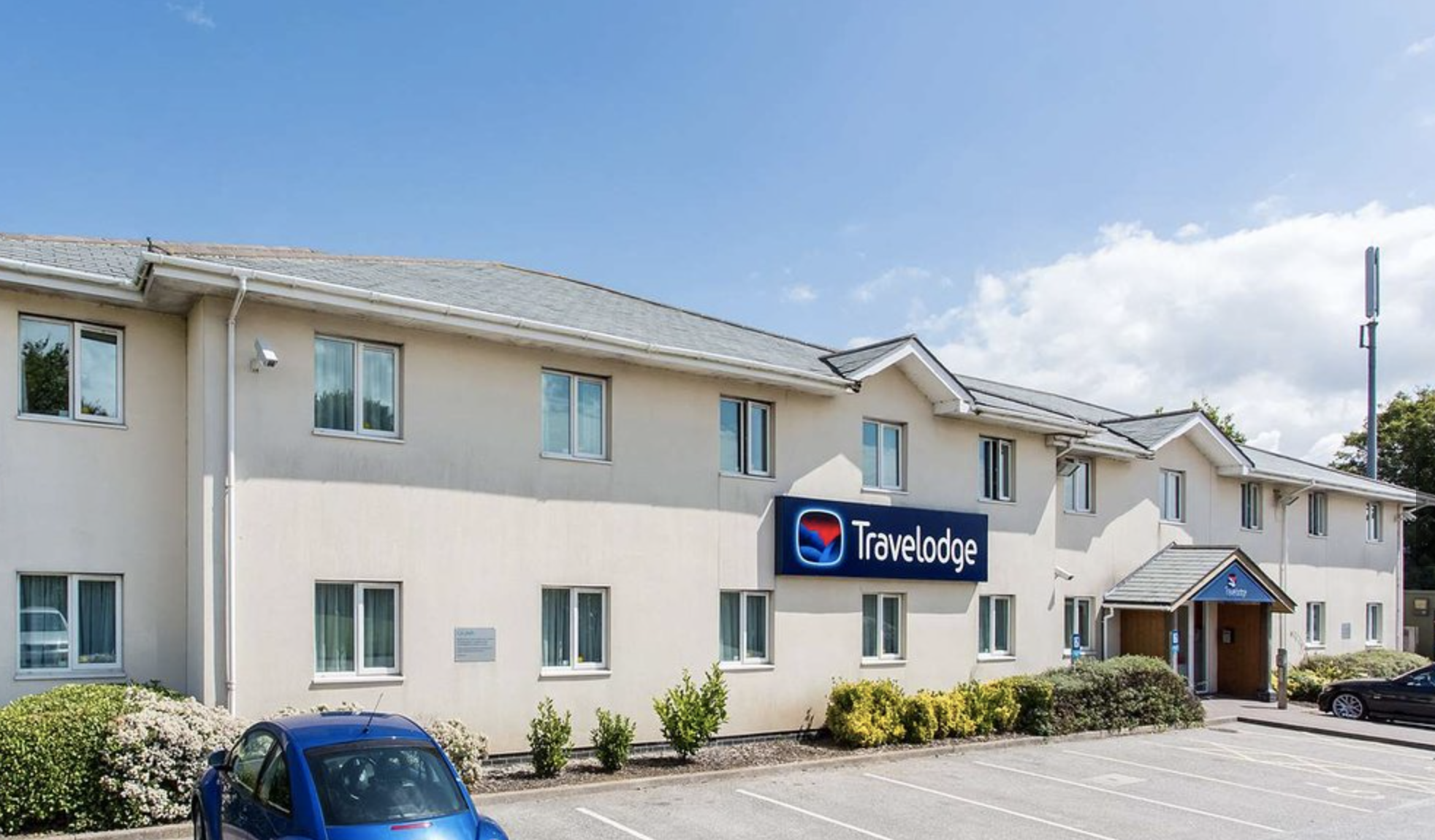 """The Travelodge hotel in Hayle, Cornwall. The chain are """"actively looking"""" at opening a hotel on Scilly. Image courtesy of Travelodge."""