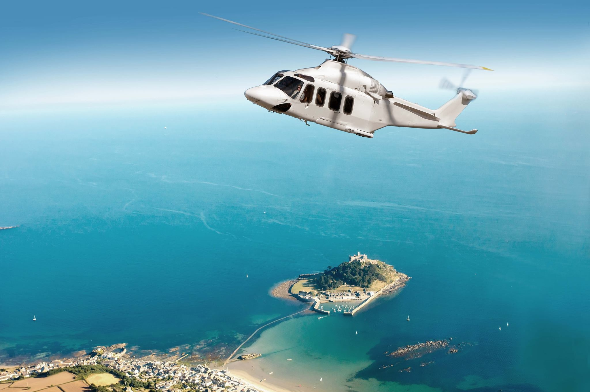 The new helicopter service is expected to launch in March 2020 with bookings set to go live in early summer 2019. Image courtesy of Penzance Heliport Ltd.