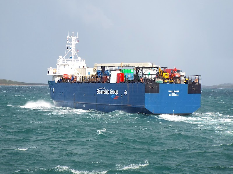 The Mali Rose departing St Mary's Harbour. Image courtesy of Scilly Pictoria.