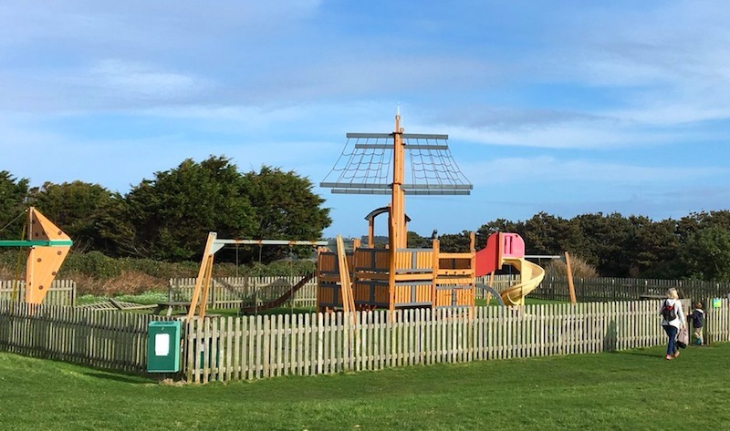 The pirate ship site on the Garrison has been closed since last September due to safety concerns.