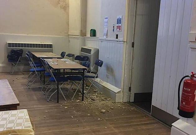 Jane Hurd, who was standing around 10ft away, said it happened near to the right hand side of the door in the area where teas and coffees were served. Image courtesy of    Scilly Maid Chocolate   .