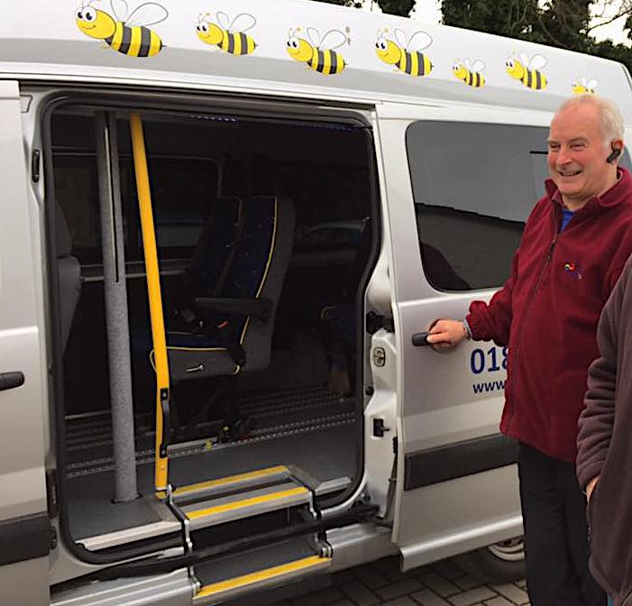 The vehicle, driven by David Maybrey, is part of the Better Care Fund's Access to Services Scheme, which also includes concessionary boat fares.