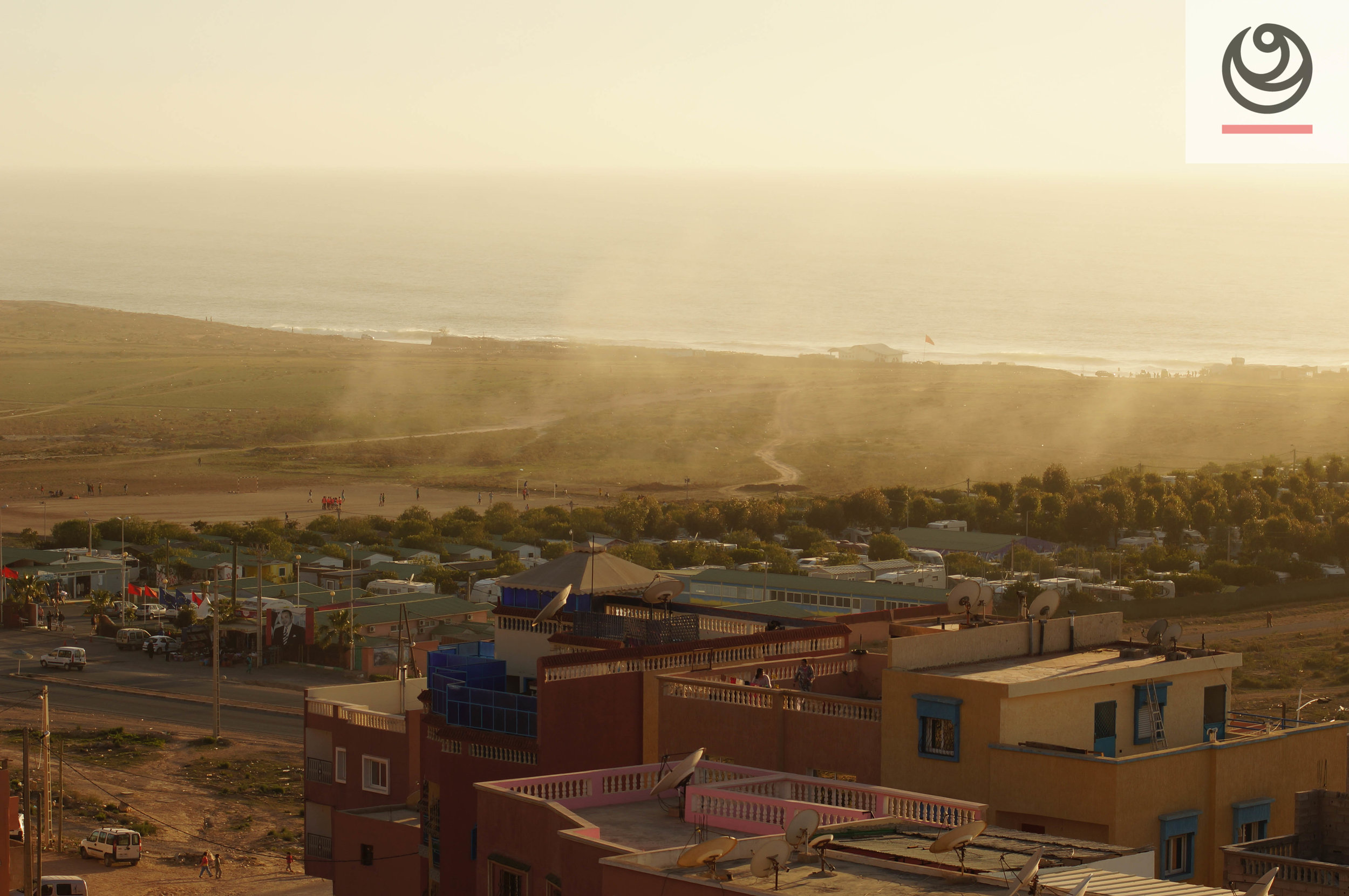 Offshore winds in the Golden hour in Morocco