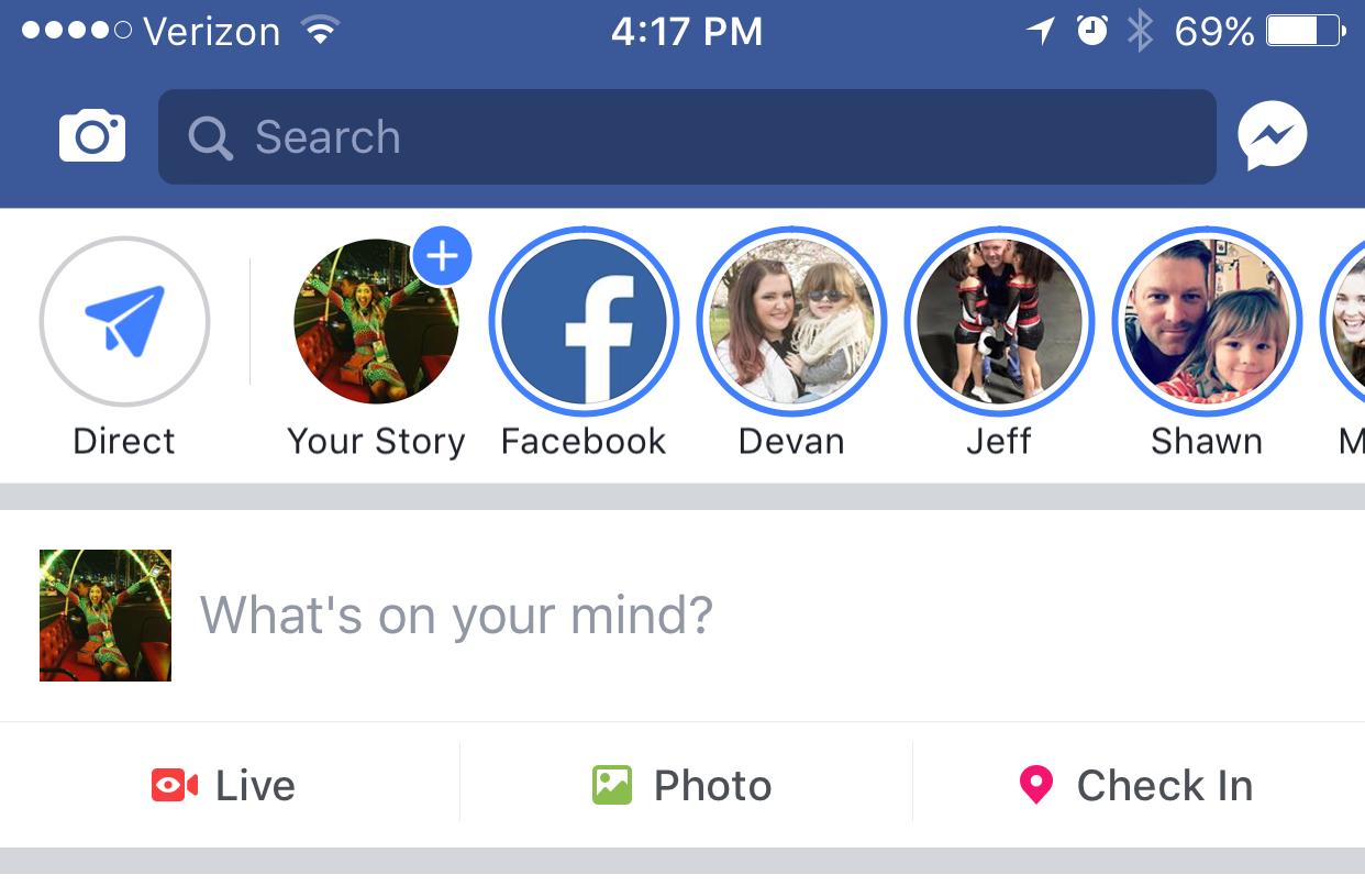 facebook stories feature